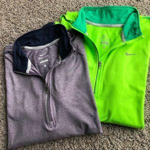 Nike Running Dri-Fit Quarter Zip Long Sleeve Tops